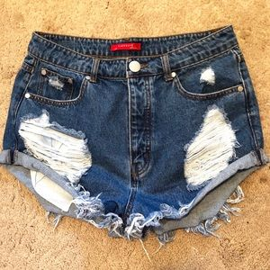 CAFFEINE Shorts - NEW with tags Distressed Denim Shorts